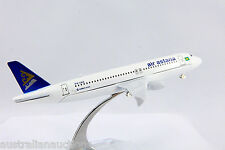 AIR ASTANA KAZAKHSTAN AIR AIRLINE DIECAST PLANE MODEL A320 AIRBUS 16cm+STAND #67