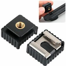 "Flash Hot Shoe Mount Adapter To 1/4"" Screw Thread For Canon Camera Accessories"