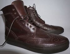 Hydrogen-1 Founder Edition Wing tip Sneaker Boots Size 11 Brown Italy 44 Hi Tops