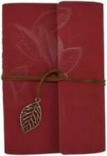 Red Leaf Leather-Bound Journal ~ Wiccan Pagan Supply