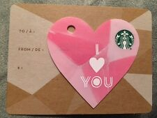 "Canada Series Starbucks ""MINI VALENTINE - PINK  2016"" Gift Card - New No Value"