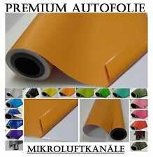 1000 x 152cm 15,2m² Orange Matt Folie + Rakel Luftkanäle car wrapping 4,34€/m²