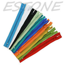 10pcs mix Nylon Coil Zippers Tailor Sewer Craft 9 Inch Crafter's