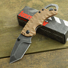Kershaw Shuffle II 8Cr13MoV Blackwash Tanto Tan Handle Knife 8750TTANBW