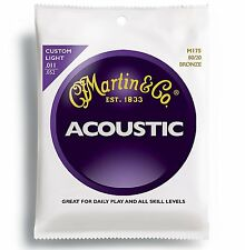3 SETS MARTIN M175 80/20 ACOUSTIC GUITAR STRINGS 11-52