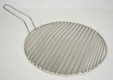 Korean BBQ Round Triple Stainless Steel Fish Cooking Grill Grid Grate 11.5""