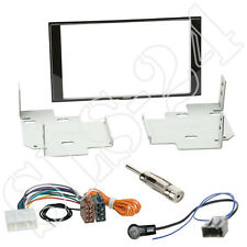 Nissan Micra Note ab2013 Doppel 2-DIN Blende+ ISO Radio Adapter+ Antenne KFZ SET