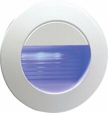 Knightsbridge Recessed IP54 Round Outdoor Indoor LED Guide Stair Blue Light Lamp