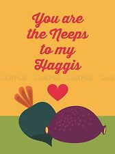 QUOTE TYPOGRAPH PAINTING ROMANTIC NEEPS HAGGIS LOVE SG POSTER ART PRINT LF193