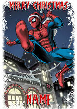Spiderman Children's **Personalised Christmas Card** Any Name A5 (SM7)