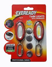 Eveready Lights with Carabiners Pack 2 w Magnets - Torch Camping Cycling Walking