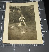 Girl Young Republican ELEPHANT Stuffed TOY Child Vintage Snapshot PHOTO