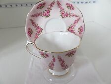 ELEGANT  ROYAL ALBERT PINK BROCADE  CUP AND SAUCER VERY PRETTY