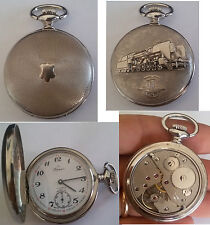 orologio da tasca perseo ferrovie unitas 6498 / perseo pocket watch unitas 6498