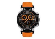 T0484172705704 TISSOT T-Race Orange Rubber Strap Men's Watch Chronograph black
