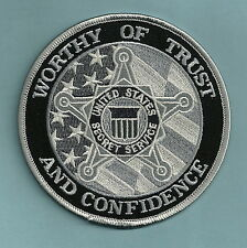 UNITED STATES SECRET SERVICE TRUST & CONFIDENCE POLICE PATCH GRAY