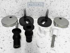NEW Top Fix and or Bottom Fix Toilet Seat Fittings Hinges Pins 6mm Pins WC