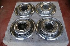 """1969 Plymouth Fury Set/4 Hubcaps / Wheelcovers NICE Originals 15"""""""