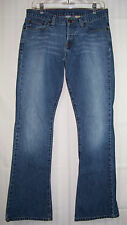 """ABERCROMBIE & FITCH Flare jeans Sz 4R Button up waist 32.5 x inseam 32.5 41""""long"""