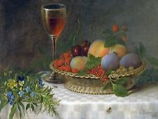 STILL LIFE WITH A BASKET OF FRUIT Accent Tile Mural Kitchen Wall Backsplash 8x6