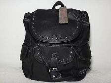 NWT Stone Mountain Studded Flap Top Backpack, Black