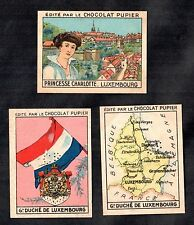 Luxembourg 1938 Rare French Chocolate Cards Flag Map Princess Charlotte