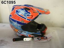 M2R HELMET RED BLUE MEDIUM SOME SCRATCHES NEW OLD STOCK   5C1095