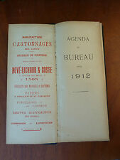 Ancien agenda 1912 RICHARD & COSTE  Lyon