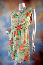 "ALICE + OLIVIA 100% silk ethereal ""Abstract Garden"" open back sexy dress SZ: S"