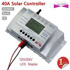 LCD 40A MPPT Solar Panel Regulator Battery Charge Controller 12V/24V USB 5V EH