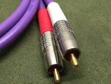 New 3' Belden 1694A Purple High Quality RG6 Studio Grade RCA Stereo Audio Cable