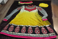 Asian Pakistani Indian Designer Salwar Kameez Embroidered Anarkali Dress Suit
