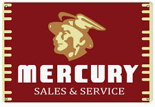 Mercury Service Motor Oil Sign