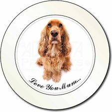 Cocker Spaniel Dog 'Love You Mum' Car/Van Permit Holder/Tax Disc Gi, AD-SC22lymT