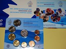 Slovakia Slowakei 2010 KMS Kursmünzensatz Official mint Set Olympia in Vancouver