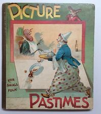 NISTER Picture Pastimes Pop-up Movable Lift Flap Child Chromolith Victorian VG