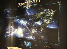 BlizzCon 2015 Starcraft 2 Legacy Of The Void Dev Signed Poster Rare