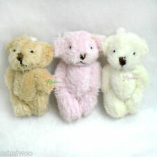 1/6 Dollfie Blythe Miniature 4cm Mini Plush Velboa Soft Teddy Bear (3pcs Set)