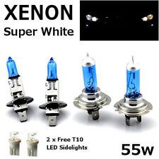 H1 H7 T10 55w SUPER WHITE XENON Upgrade Head light Bulbs Set Dip Main Beam II