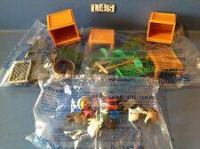 (L45.1) playmobil clapier animaux ferme ref 5123 4491 4490 neuf cplt sans boite