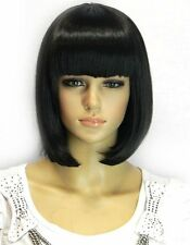 Kalyss Womens Bob Short wig Black Color Heat Resist Cospaly party Hair Wig