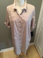 NEW w/t -ZARA – Beige, Stretch, Shirt Dress – XL