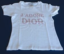 New Christian Dior J'ADORE DIOR T-shirt 100% Cotton Made in France Size 11 NWT