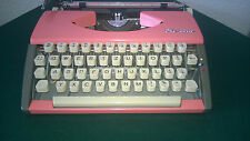 Vintage German typewriter Pink OLYMPIA SF 1962