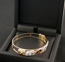 Arm-Spange Reif 750 Gold weiss gelb rose Brillanten diamonds Elefanten elephants