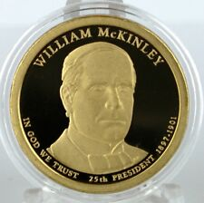 2013 S William McKinley Proof Dollar in Archival Crystal Clear Coin Capsule
