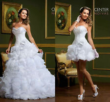 Two in One Bridal Gown Lace Skirt Wedding Dress Custom Size 4 6 8 10 12 14 16 18