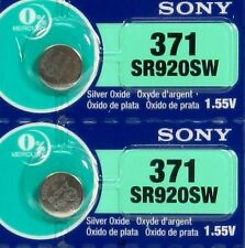 SONY 371 370 SR920W SR920SW (2 Pieces) Brand New Battery EXP 06-2019