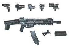 """""""Modular"""" ACR Assault Rifle w/ Mag-1:18 Scale Weapon for 3-3/4"""" Action Figures"""
