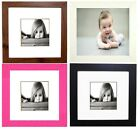 Square Photo Picture Frames Stand or Wall Hang Family Gift Present